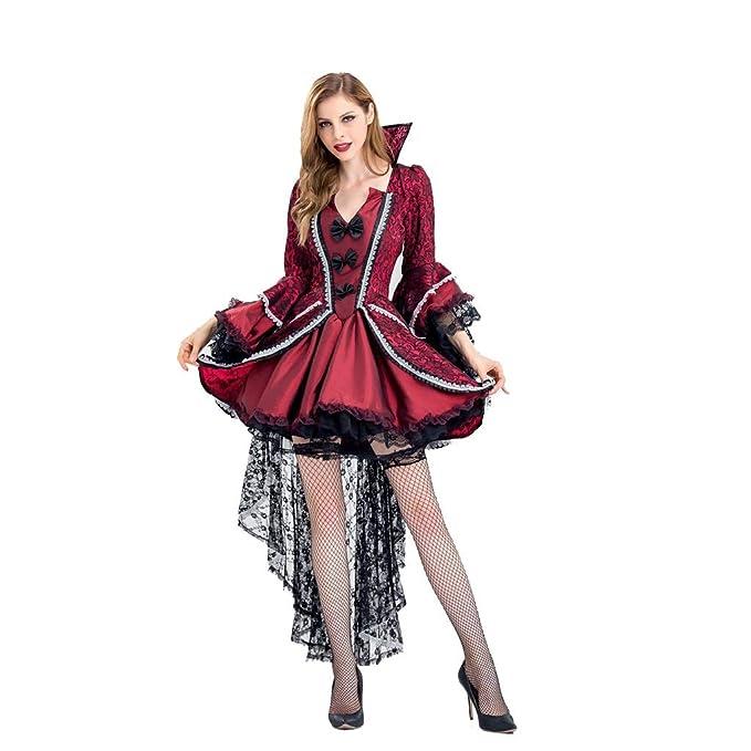WYXFS Vampiro Disfraz de Halloween Reina Falda Larga Cosplay Bruja ...