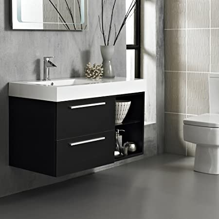 diy bathroom vanity unit. Hudson Reed Console Wall Mounted 1000mm Wide Wenge Finish Bathroom Vanity  Unit With One Tap Hole