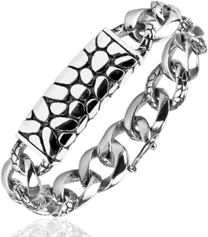 Tortuga pulsera de acero inoxidable plata para hombre y ...