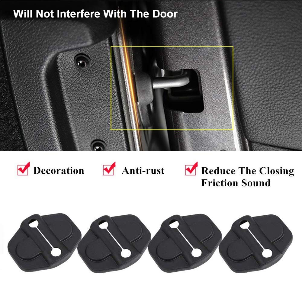 ABS Door Lock Decoration Cover Protection Trim for 2018-2020 Jeep Wrangler JL JLU Unlimited Sahara Sports Rubicon 2020 Gladiator JT Door Lock Cover Sticker Accessories