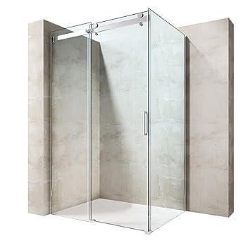 durovin Badezimmer L Form rechteckig rahmenlose Dusche ...
