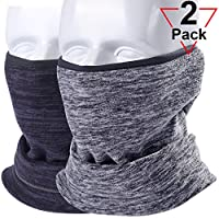 AXBXCX Fleece Neck Warmer Unisex - Windproof Neck Gaiter Tube Face Mask Ear Warmer Headband Mask & Beanie for Ski Snowmobile ATV Riding Fishing Running Motorcycles