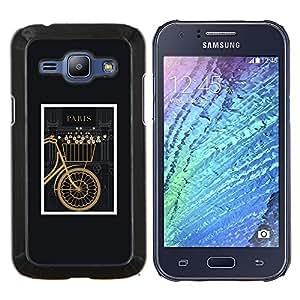 Stuss Case / Funda Carcasa protectora - Marco Negro Hipster vintage - Samsung Galaxy J1 J100