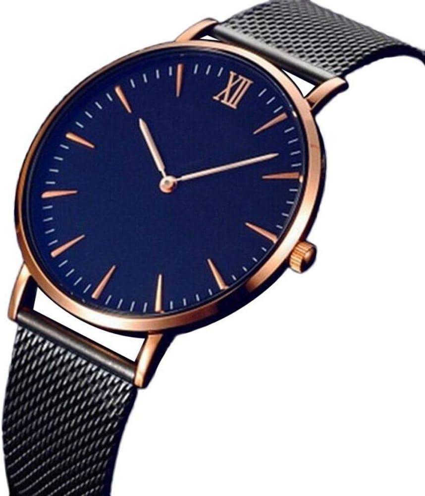 HTRHHG Fashion Leisure Woman Watch Mujeres Moda Classic Gold Geneva Quartz Reloj de Pulsera de Acero Inoxidable, 1