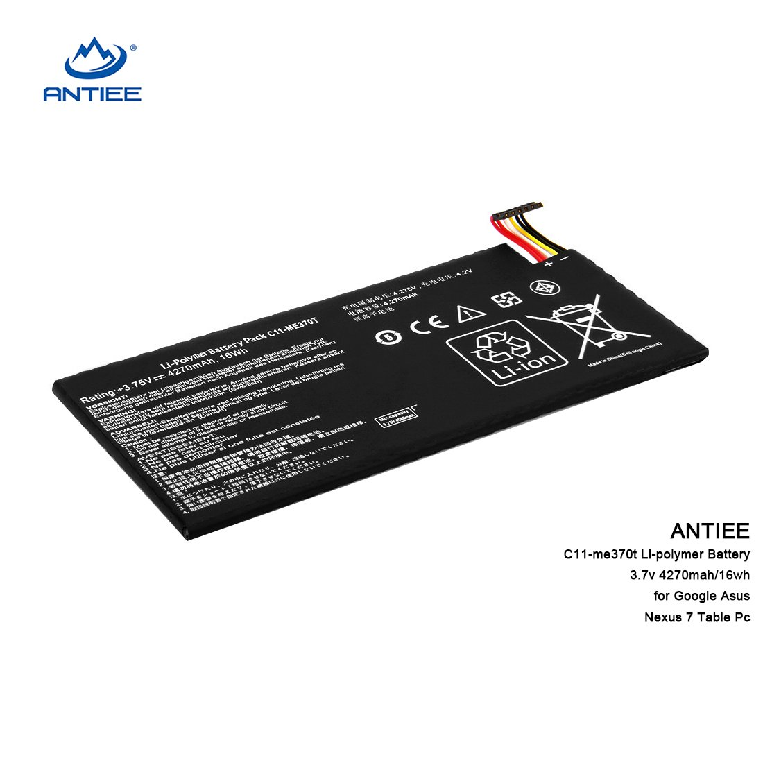 Antiee New Replacement C11 Me370t Li Polymer Battery For Pc Wiring Diagram Google Asus Nexus 7 Table 37v 4270mah 16wh By Generic Computers Accessories