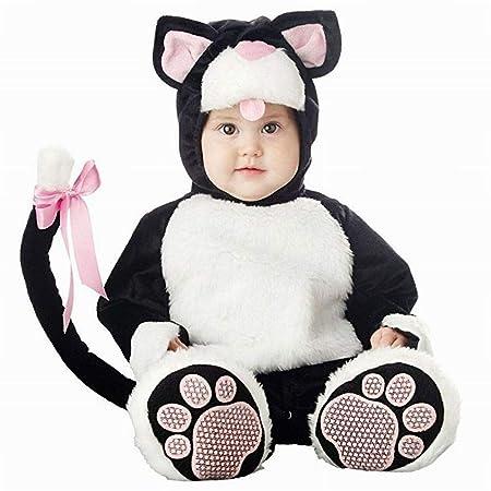 PoeHXtyy Unisex bebé lindo mono de cremallera pijamas niño disfraz ...
