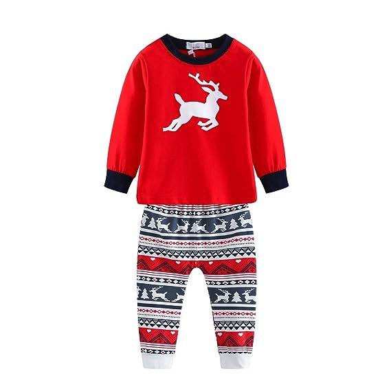 6592bb919ac3f Baywell Ensemble de Pyjamas de Noël Assortis Famille Fawn Deer ...