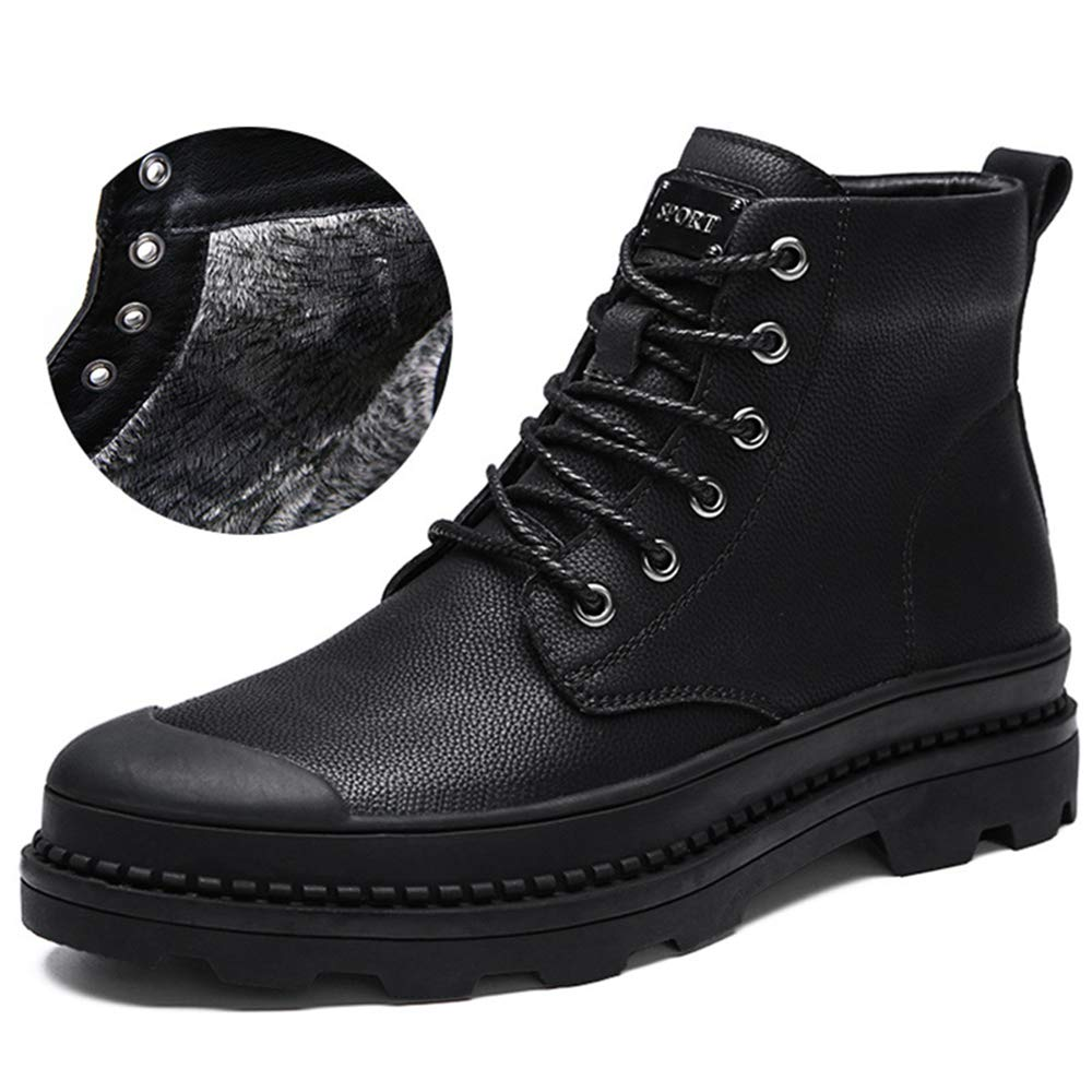 Zarachielly Mens Waterproof Winter Boots Outdoor Warm Snow Boots Comfortable Winter Boots
