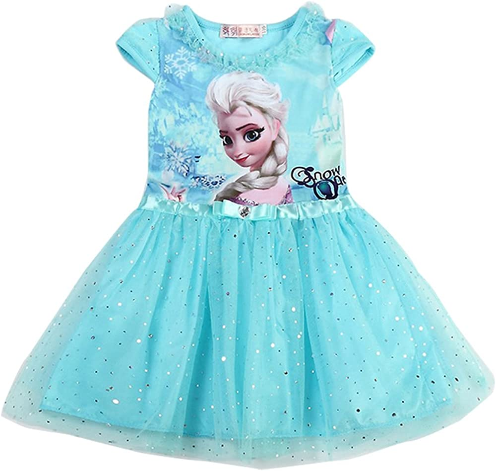 MiXiaoJie Girls Elsa Princesa Vestido Halloween Cosplay Traje ...