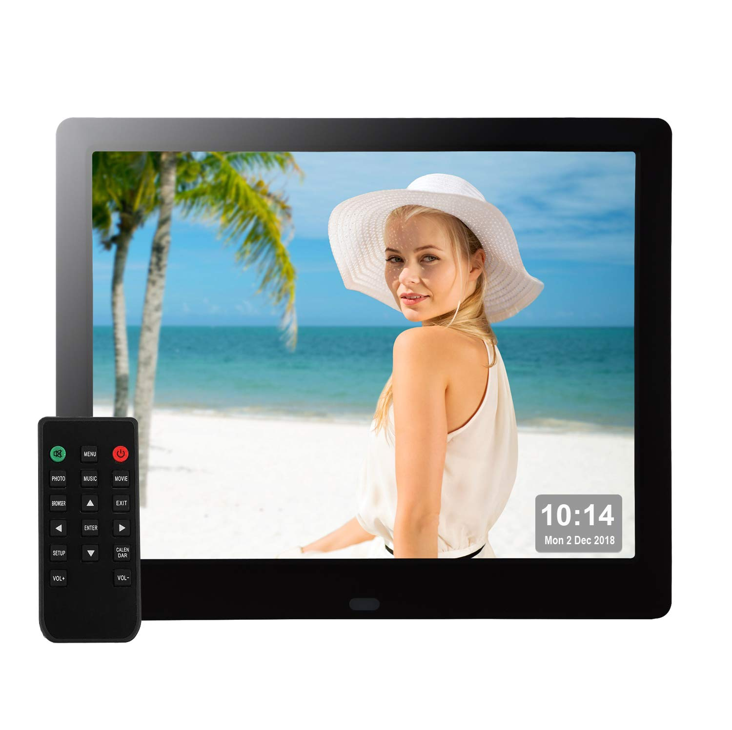 9 Inch Digital Picture Frame 1080P HD IPS Electronic Photo Frames Full Angle Signage USB SD/SDHC for Wedding Birthday Gift- Black by Véfaîî