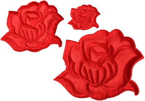 Iron on Patch for jackets Patches Patches for jackets Rose Patch Patch Sew on patch Rose Patch for jacket