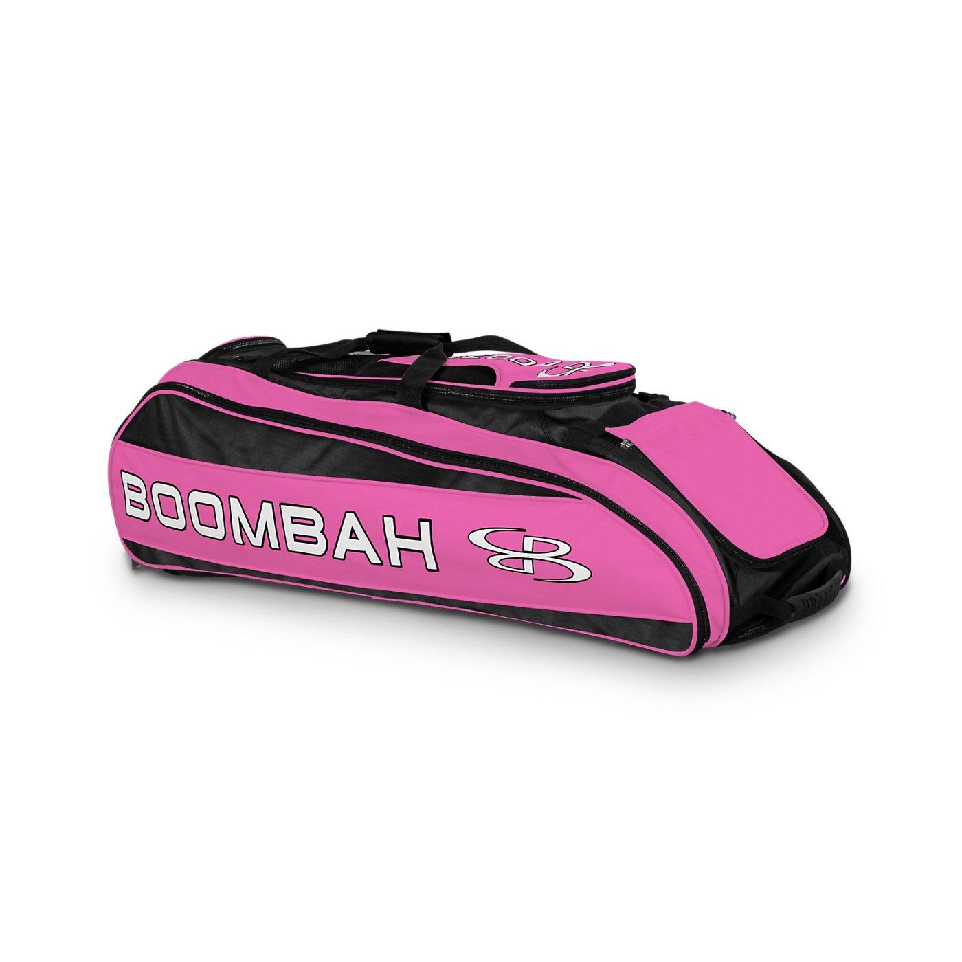 Boombah Beast Baseball/Softball Bat Bag - 40'' x 14'' x 13'' - Black/Pink - Holds 8 Bats, Glove & Shoe Compartments by Boombah (Image #1)