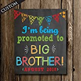 Only Child Expires 2018 Promoted to Big Brother Chalkboard Pregnancy Announcement Poster Sign by Katie Doodle