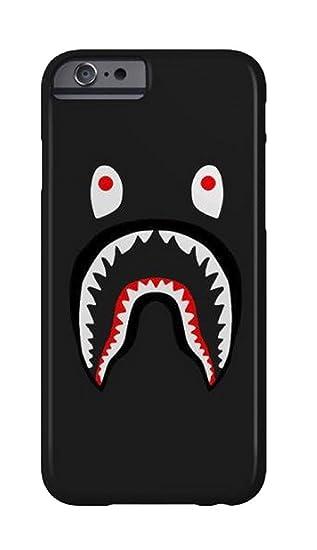 ea54caa27fba Amazon.com  Bape Shark Black and Red Hard Plastic iPhone Case (5 5S ...