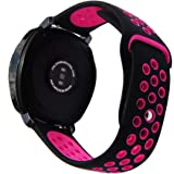 20mm Silicone Watch Band,Silicone Breathable Replacement Strap for S2 Classic SM-R732/