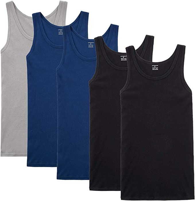YOUCHAN Camiseta de Tirantes para Hombre Pack de 5 de Algodón 100% más Colores: Amazon.es: Ropa y accesorios