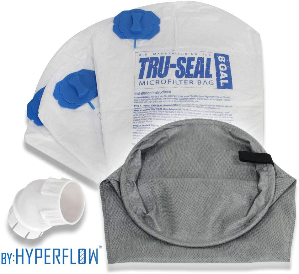 Hyperflow Tru-Seal Complete Dust Encapsulation and Hygienic Disposal: Replaces 8-Gallon & 12-Gallon MD Bags #720H-5, 720, 721H-5, 721-5, 720HF-3 (Tru-Seal Upgrade Kit)