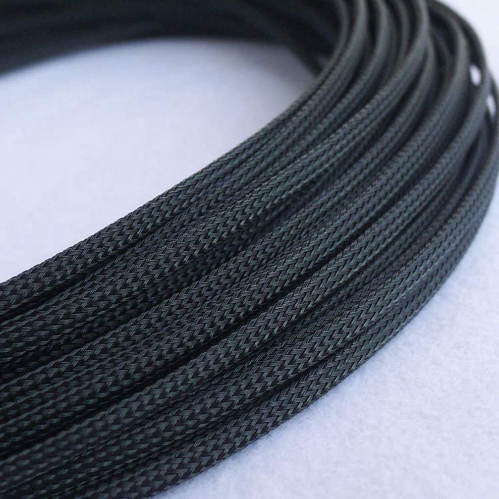 18Meter 3 Wire 4mm Cable Sleeves Encryption PET Snakeskin Mesh Wire Protecting Cable Sleeve Nylon Shock for Cable Sets