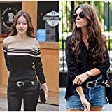 WERFORU Ladies Vintage Western Leather Belts for Women Genuine Leather with...