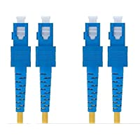 SC to SC Fiber Optic Patch Cord Cable Duplex Single-mode (1M)