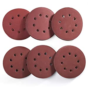 5 Inch 8 Holes Sanding Discs - 60PCS 1000 1200 1500 2000 2500 3000 Grit Assorted Sandpaper by LotFancy, Hook and Loop Random Orbital Sander Round Sand Paper