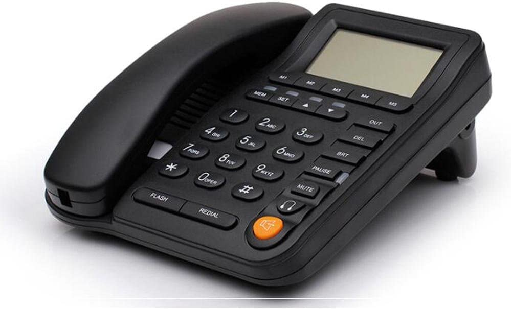 HePesTer P-017-J Call Center Corded Telephone with Caller ID Landline Home Office Phone with Headset Jack