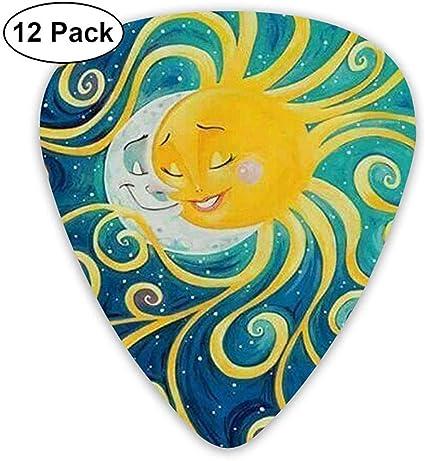 Púas de guitarra personalizadas - Accesorios para púas Sun-Moon ...