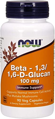 NOW Supplements, Beta 1,3 1,6- D-Glucan 100 mg with Maitake Mushrooms, 90 Veg Capsules