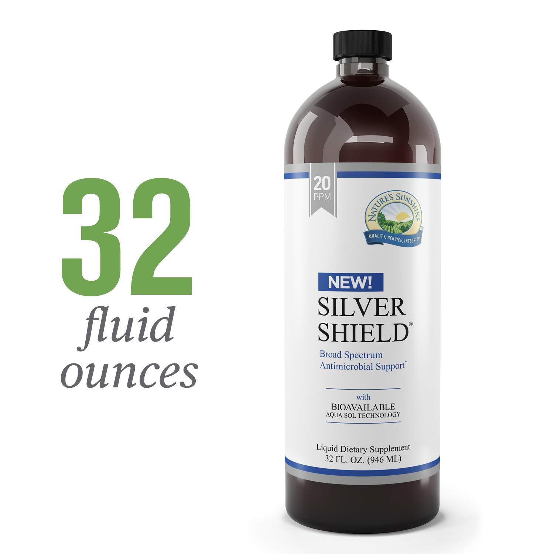 Nature's Sunshine Silver Shield Liquid, 32 fl. oz.   Colloidal Silver Liquid with Aqua Sol Technology Provides Immune Support and Protection