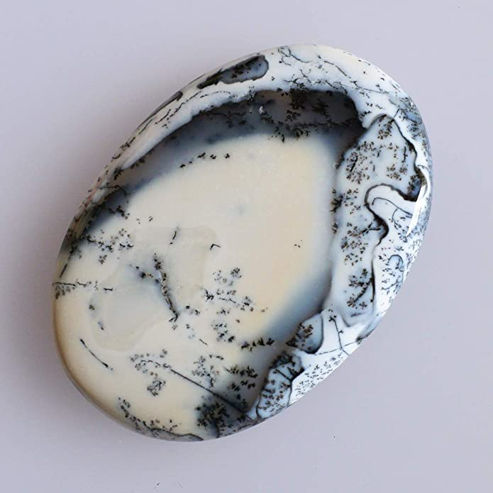 Pendant Stone Attractive Genuine Mexican Dendrite Opal Oval Cabochon Loose Semi Precious Size 51X36X7 MM Jewellery Making Supplies 7609