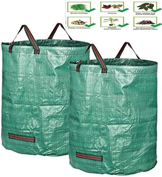 zhougtry Bolsa de Basura para jardín, Rama, Decidua, maleza, Almacenamiento, Bolsa Tejida para Plantar: Amazon.es: Jardín