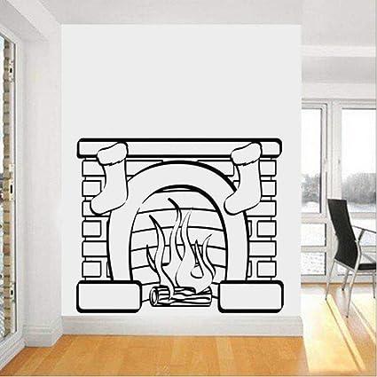 Mhdxmp Hot Christmas Stocking Etiqueta De La Pared Calcomanías De Vinilo Estufa Moda Mural Hogar Decoración