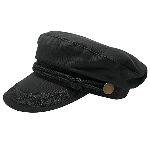Broner Hats Men s Greek Fisherman Cotton Twill Hat - Black at Amazon ... e2376b4f7913