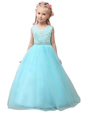 Robe de mariage petite fille bleu for Robes de mariage bleu ciel