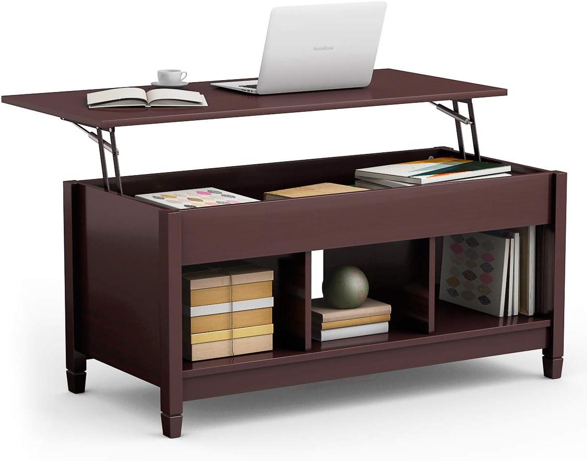 - Tangkula Coffee Table Lift Top Wood Home Living Room Modern Lift