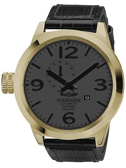 Haemmer HM-12 - Reloj de pulsera de hombre color negro: Amazon.es: Relojes