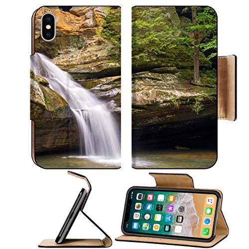 Shop online MSD Premium Apple iPhone Flip Leather Wallet Case IMAGE 19670074 Cedar Falls beautiful cascading waterfall