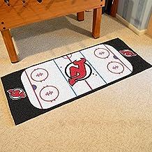 Fanmats Home Indoor sports Team Logo New Jersey Devils Rink Runner Mat
