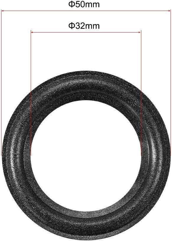 sourcing map 2 2 inch Speaker Foam Edge Surround Rings Replacement Parts for Speaker Repair or DIY 4pcs