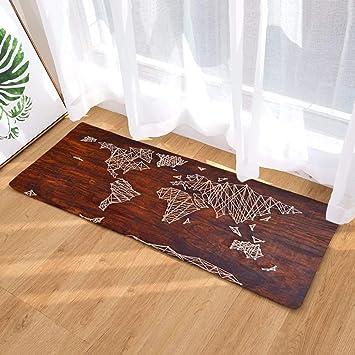 amazon de morbuy fussabtreter 40x60 40cmx120 innenbereich weltkarte flur teppich wohnzimmer