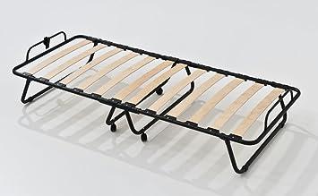 Brandina Pieghevole con rete a doghe letto apribile singolo 80x190 ...