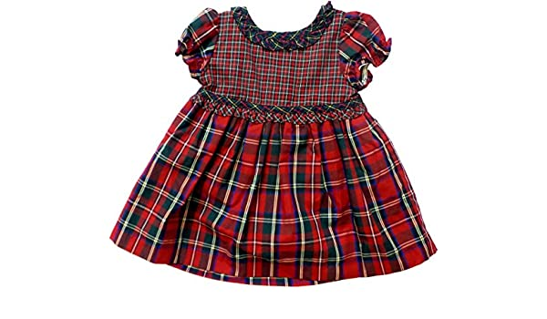 a12069397a2 Amazon.com  Chaps Baby Girls 2-Piece Holiday Plaid dress