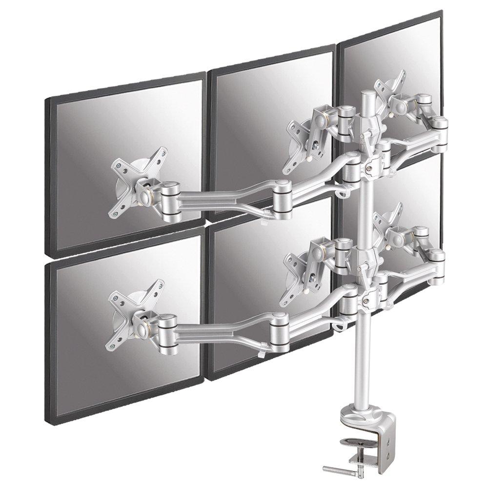 NewStar FPMA-D1030D-6 Flatscreen Desk Mount für 6x LCD/TFT (45,7 cm (18 Zoll), Belastbarkeit: 10Kg)