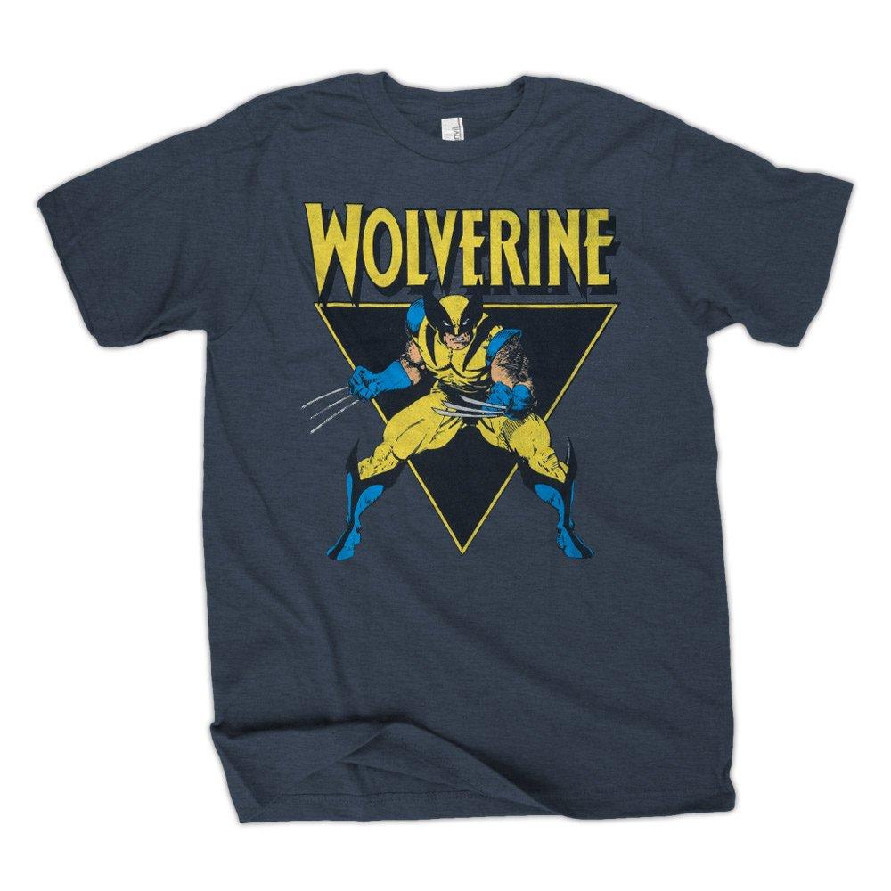 Marvel Lobezno ángulo para hombre azul camiseta: Amazon.es ...