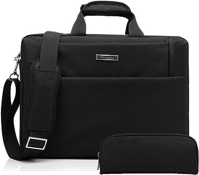 17.3 inch Laptop Messenger Bag Multi-Pocket Briefcase Computer Shoulder Handbags
