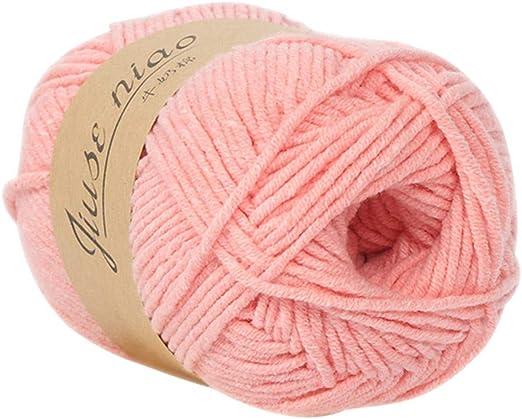 Ovillo de lana para tejer, de lana de algodón, hecho a mano, gorro de lana, bufanda,