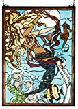 19 Inch W X 26 Inch H Mermaid Of The Sea Stained Glass Window , Windows , Meyda