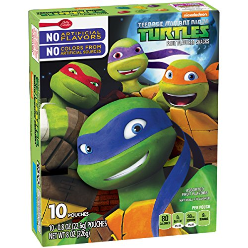 Betty Crocker Fruit Snacks, Teenage Mutant Ninja Turtles