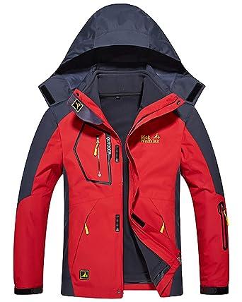 Veste Imperméable pour Homme Hiver Veste de Ski avec Intérieur 3 en 1  Manteaux Rouge XL  Amazon.fr  Vêtements et accessoires e2f494507a0