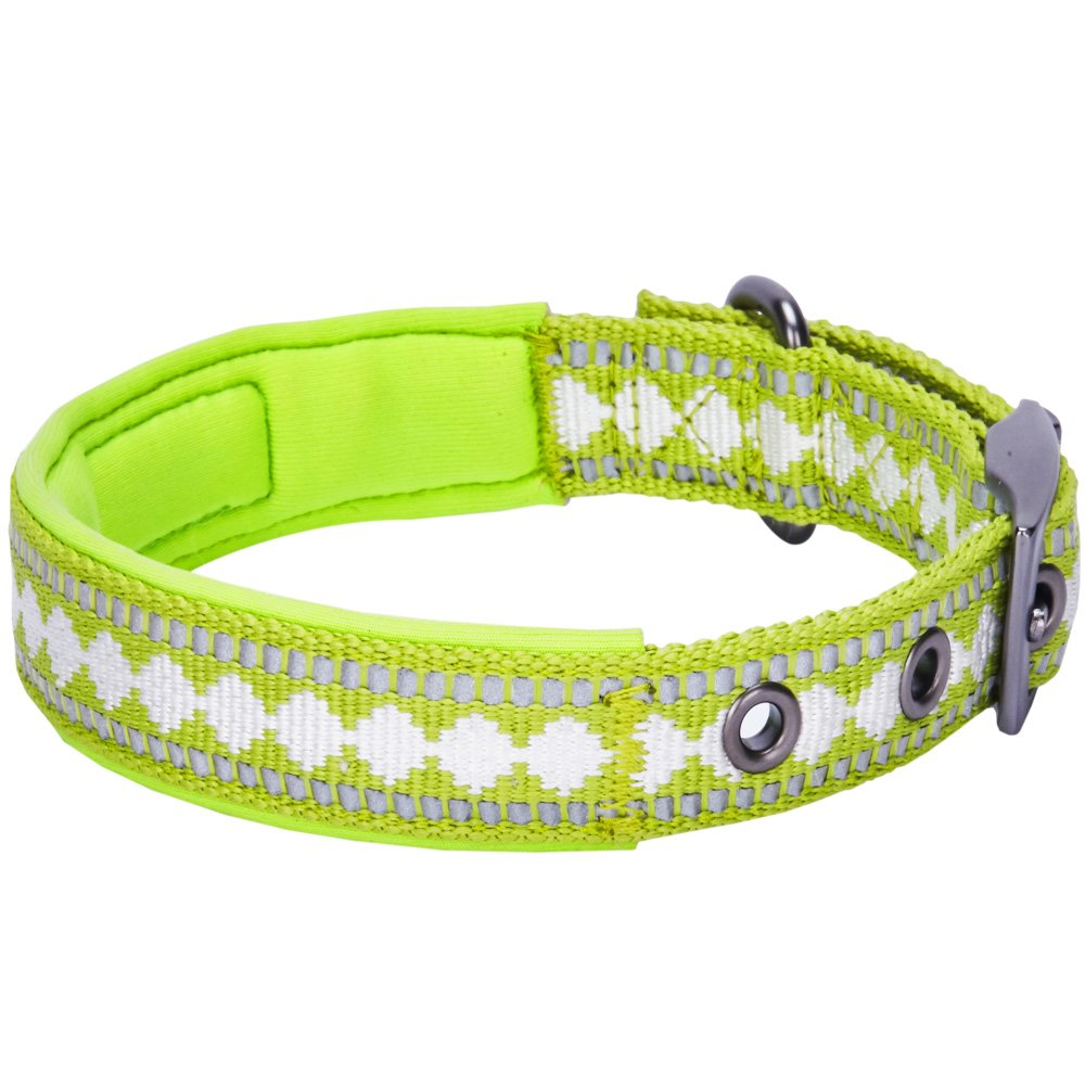 Home collars blueberry pet dog collar nautical flags inspired - Amazon Com Blueberry Pet Soft Comfy 3m Reflective Jacquard Padded Dog Collar In Macaw Green Neck 9 12 5 Small Adjustable Collars For Dogs Pet